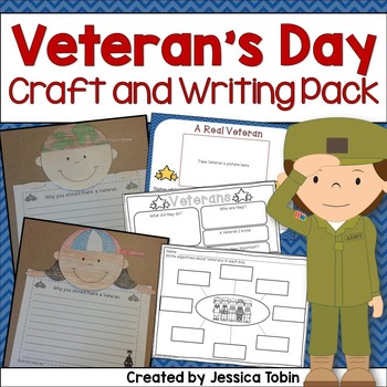 Veterans day craft and writing pack