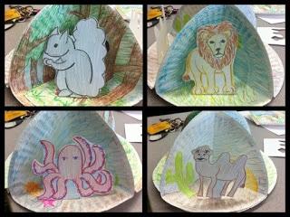 Teaching habitats art project