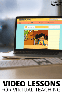 Brainpop video lessons to use when teaching virtual language and grammar