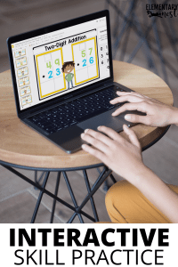 Interactive skill practice with Google Slides or Seesaw Virtual Addition activities
