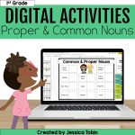 1st grade digital activities proper and common nouns
