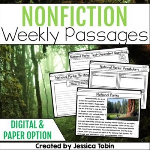 Weekly Nonfiction Reading Passages with Digital