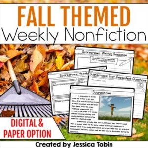 Fall Weekly Nonfiction Reading Passages