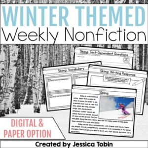 Winter Weekly Nonfiction Reading Passages