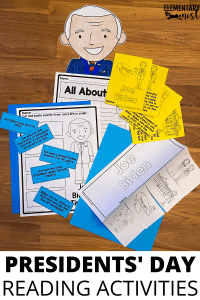 Presidents' Day Reading Activities, printable and digital