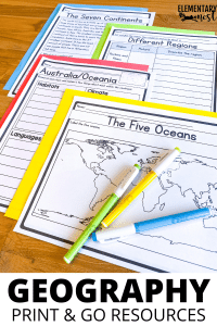 Printable Geography Unit with activities for elementary social studies