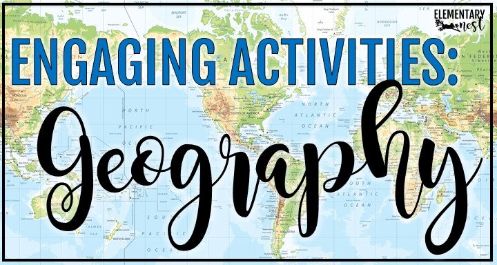 Blog post about World Geography Activities for Elementary Social Studies