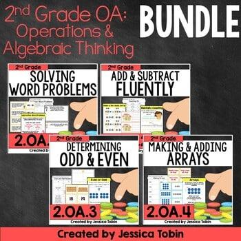 2nd Grade Math- OA Operations and Algebraic Thinking Bundle