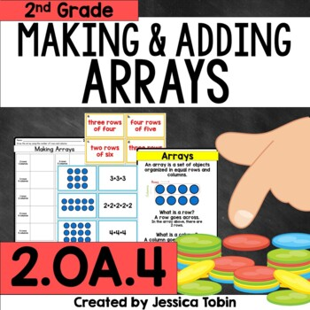 2.OA.4 Arrays, Making Arrays and Repeated Addition