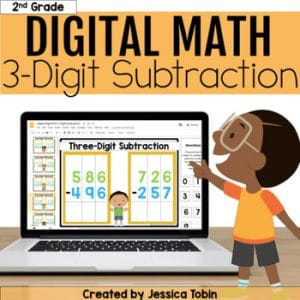 3 Digit Subtraction Digital - 2.NBT.7