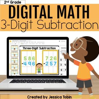 3 Digit Subtraction Digital - 2.NBT.7