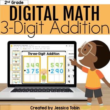 3 Digit Addition Digital - 2.NBT.7