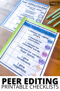 Printable Student Peer Editing Checklist