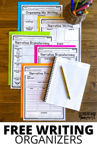 Free pre-writing graphic organizers to help students
