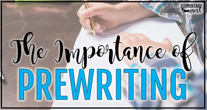 Blog post on the importance of pre-writing
