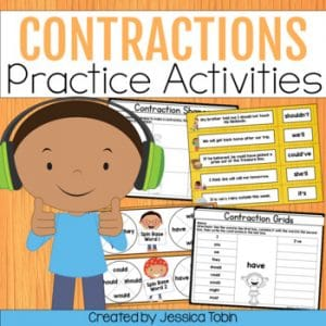 Contractions Worksheets and Practice Activities
