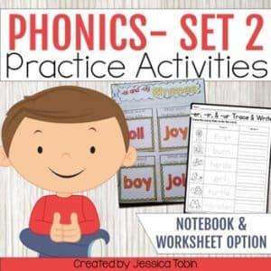 Phonics Activities Interactive Notebook Set 2