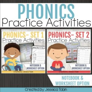 Phonics Activities Set 1 and 2 Bundle