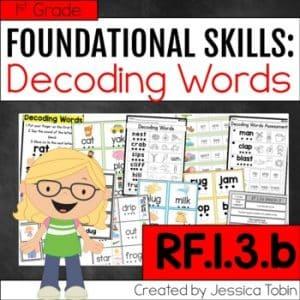 RF.1.3.b Decoding Words Activities