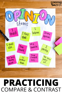 Check out these great opinion writing anchor charts. From introductions to conclusions, these 6 anchor charts will engage your students. Start by teaching the opinion writing overall skill, then move on to using anchor charts to teach specific parts of opinion writing!