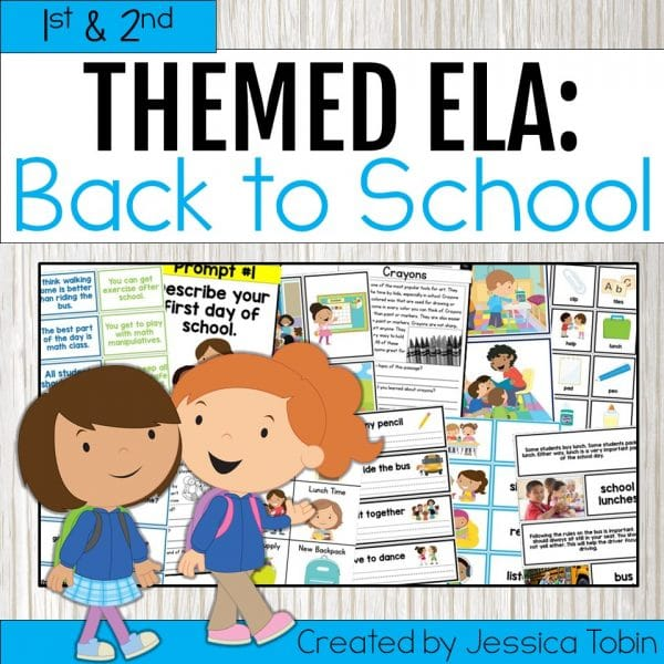 1st & 2nd Grade Back to School ELA