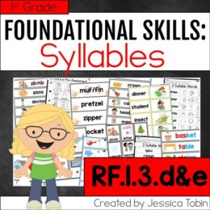RF.1.3.d&e- Syllable Activities and Lessons