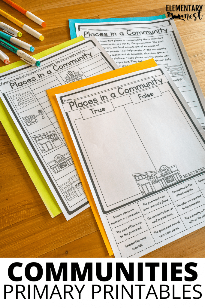 Learn 5 ways to create an engaging communities unit for your students. Teach them facts about their community and other communities! They will learn about types of communities, community helpers, services and buildings in their communities, and more!