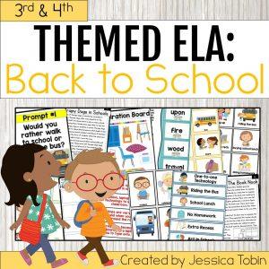 Back to School ELA 3rd & 4th Grade