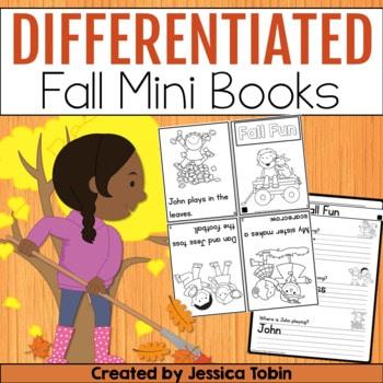 Differentiated Fall Reading Mini Books