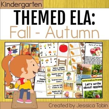 Kindergarten Fall Autumn ELA