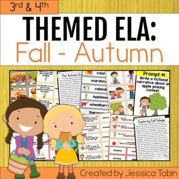3rd and 4th Grade Fall ELA Activities