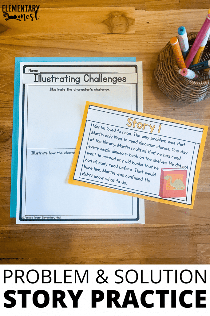 Learn ways to teach problem and solution, or how the character responds to challenges and events in a story. From anchor charts, to discussion opportunities, to strong read-alouds, you'll find a big collection of ideas to help you teach challenge and response (or problem and solution).